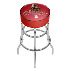 Budweiser Padded Swivel Bar Stool Clydesdale Red