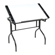 Studio Designs - Folding Craft Station, Black and White - Drafting Tables