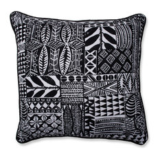 "Pillow Perfect Indoor Imani Jet Black 18"" Throw Pillow"