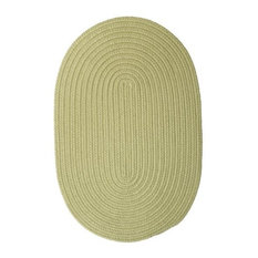 Colonial Mills, Inc - Colonial Mills Boca Raton BR66 Celery 12' x 15' Oval - Outdoor Rugs