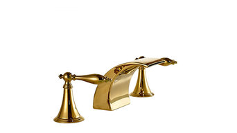 Gold LED Bathroom Sink Faucet Mixer Tap