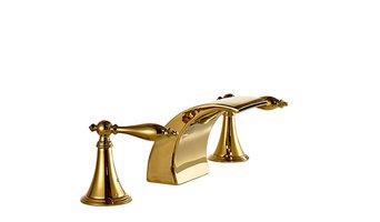 Gold LED Bathroom Sink Faucet Mixer Tap
