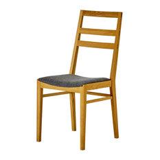 G.A.D Lansa Wooden Chair, Oak and Dark Grey
