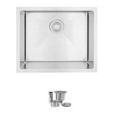 """STYLISH 22""""L x 18""""W Dual Mount Laundry Sink Single Bowl with Strainer"""