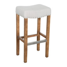 Kosas Home Kosas Home Varville Backless Barstool French Beige Bar Stools And Counter