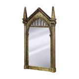 Modern Wall Mounted Mirror with Brown Castle Frame, Harry Potter Design