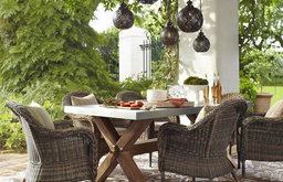 Torrey All-Weather Wicker Dining Armchair