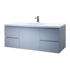 Vanity Adams 49  Single Infinity Sink, Metal Gray