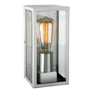 Dallas Modern Outdoor Wall Light, Stainless Steel