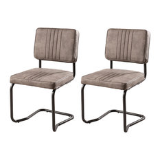 Fanny Dining Chairs, Ribbed Taupe, Set of 2