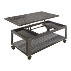 Bowery Hill Lift Top Coffee Table With Casters In Tobacco
