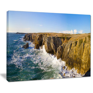 Cote Sauvage Bretagne France Large Seascape Art Wall Art Beach Style Prints And Posters By Design Art Usa