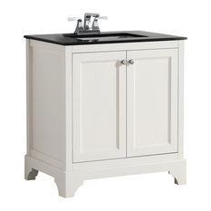 "1st Avenue - Chartres Granite-Top White Vanity, 30"" - Bathroom Vanities and Sink Consoles"