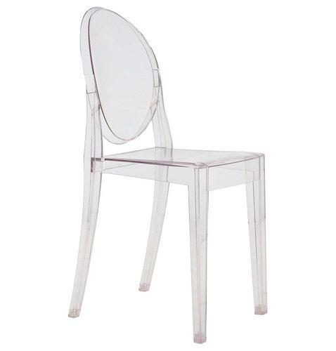 Victoria Ghost Stol, Kristall - Udendørs spisebordsstole
