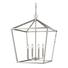 Millennium Lighting Corona Pendant, Satin Nickel