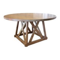 Julia Round Pedestal Dining Table Tuscany Finish 54-inch Round