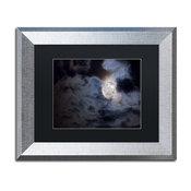 Jason Shaffer 'Supermoon ' Matted Framed Art, Silver Frame, Black Mat, 14x11