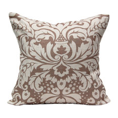 Large Damask Pillow, Chocolate