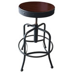 Holland Bar Stool Co. - 910 Industrial, Adjustable Screw Stool With Black Wrinkle Finish - 910 Industrial, Adjustable Screw Stool with Black Wrinkle Finish.