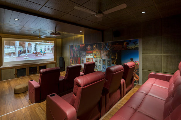 Asian Home Theater by Aangan Architects