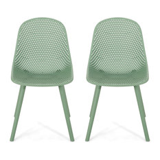 Posey Outdoor Dining Chair, Green