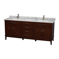 80 in. Eco-Friendly Bathroom Vanity in Dark Chestnut Finish