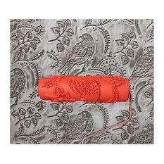 Embossed Paint Roller Wall Painting Runner Wall Decor DIY tool, Pattern 12