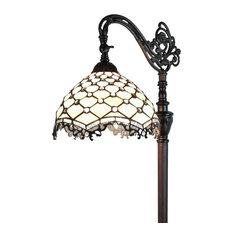 Amora Lighting  Jeweled Reading Floor Lamp 62 In