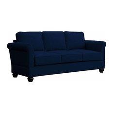 Small E Seating Georgetown Quick Embly Three Seat Mahogany Leg Sofa Indigo Sofas