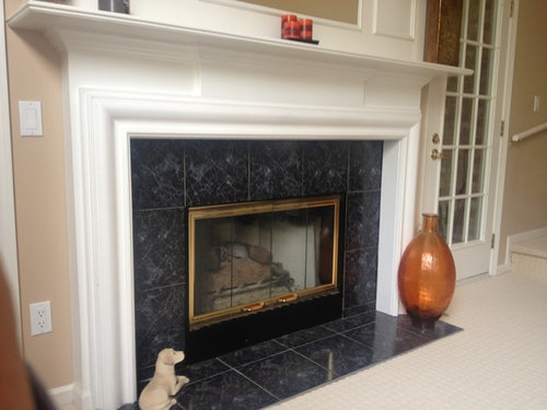 Ideas To Update Fireplace Surround, Black Marble Fireplace Surround Ideas