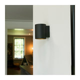 Wall Lamp Sola Round Black-Gold