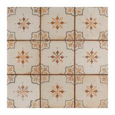 "13""x13"" Aragon Ceramic Floor and Wall Tiles, Azul, Set of 10, Marron"