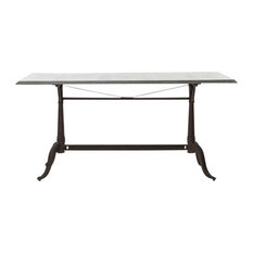 Four Hands Furniture - Hughes Parisian Dining Table, Bluestone - Dining Tables