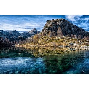 "Pixtury ""Lago Nero, Parc Mont Avic"" Photo Print, Art Poster, 70x100 cm"