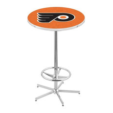Philadelphia Flyers Pub Table w/Orange Background by Holland Bar Stool Company
