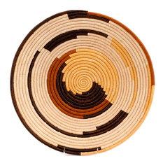 "Bukedo and Raffia Coil Weave Bowl From Uganda, 16"""