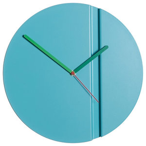 Pleat Fold Clock, Blue