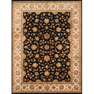 Pasargad Agra Collection Hand-Knotted Silk & Wool Area Rug, 9'x12'2""