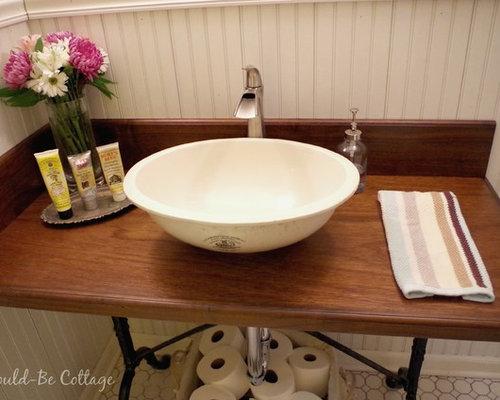 g stetoilette g ste wc mit waschtisch aus holz im. Black Bedroom Furniture Sets. Home Design Ideas