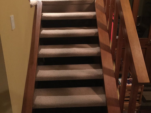 How Should I Redo Carpeted Open Riser (riser Less) Stairs In Hardwood?