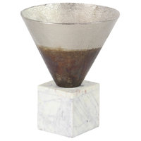 """Rustic 13""""x10"""" Funnel Pot Ombre On A Stone Base"""