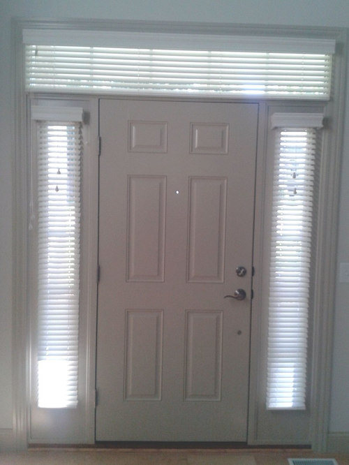 Sidelight Window Treatments With Transom Blinds