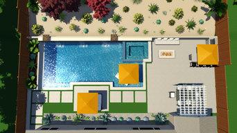 Contemporary/ Desert Yard Near Lake Elsinore