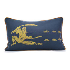 Sabre Dance Navy/Gold Pillow Case