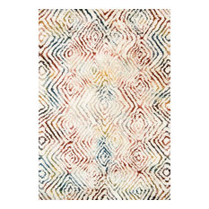 "Folklore Rug, Ivory and Prism, 7'9""x9'9"""