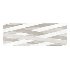 "13""x36"" Laccio Tiles, Set of 4, Wood G/R"