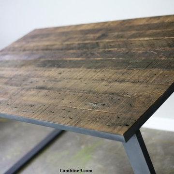 Dining Table/ Desk Modern Industrial, Mid Century, Rustic