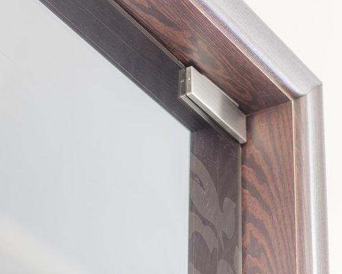 Стеклянная маятниковая двустворчатая дверь - Межкомнатные двери