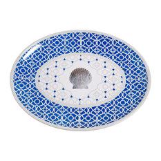 Galleyware Moroccan Shell Melamine Oval Platter
