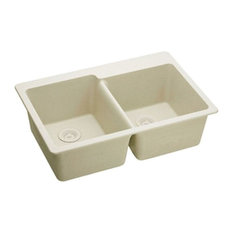 Elkay   Elkay ELG250RBQ0 Bisque Double Bowl E Granite Gourmet Sink    Kitchen Sink Accessories